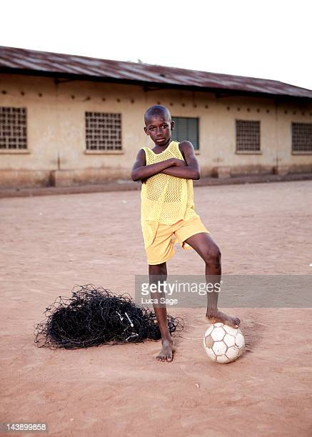 Proud African Football Player Portrait