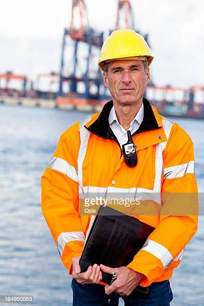 Proud dock worker