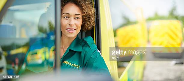 proud female paramedic