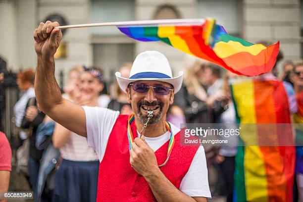 Proud Gay man during Pride Parade