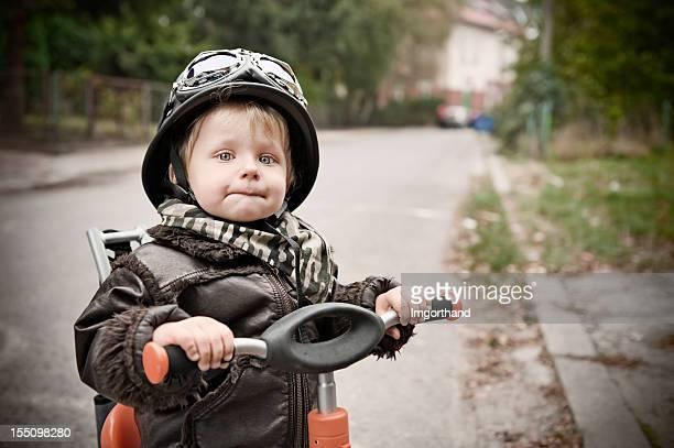 Stolze kleinen biker