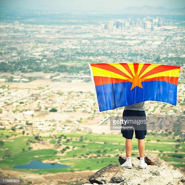 Proud man of Arizona country on Phoenix city