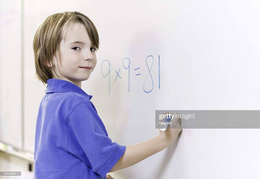 Proud Math Student Stock Photo   Getty Images