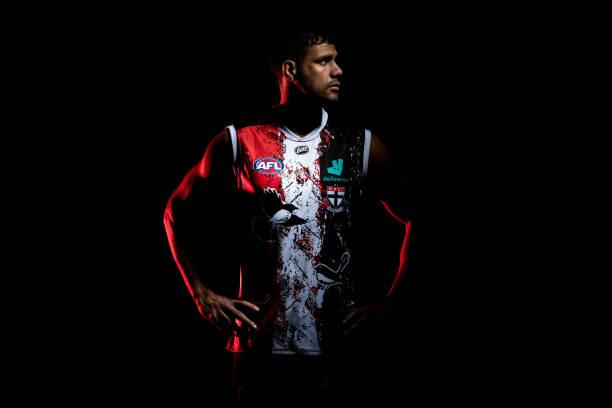 AUS: St Kilda Saints Unveil 2021 Sir Douglas Nicholls Round Indigenous Jumper