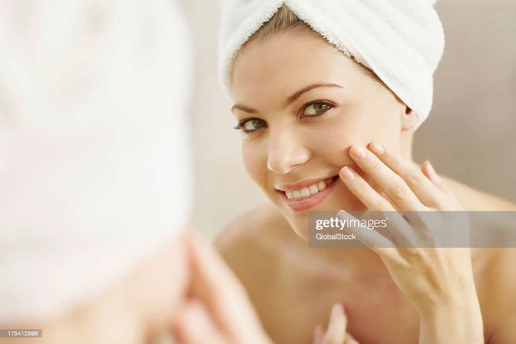 Proud of her beautiful skin : Stock Photo