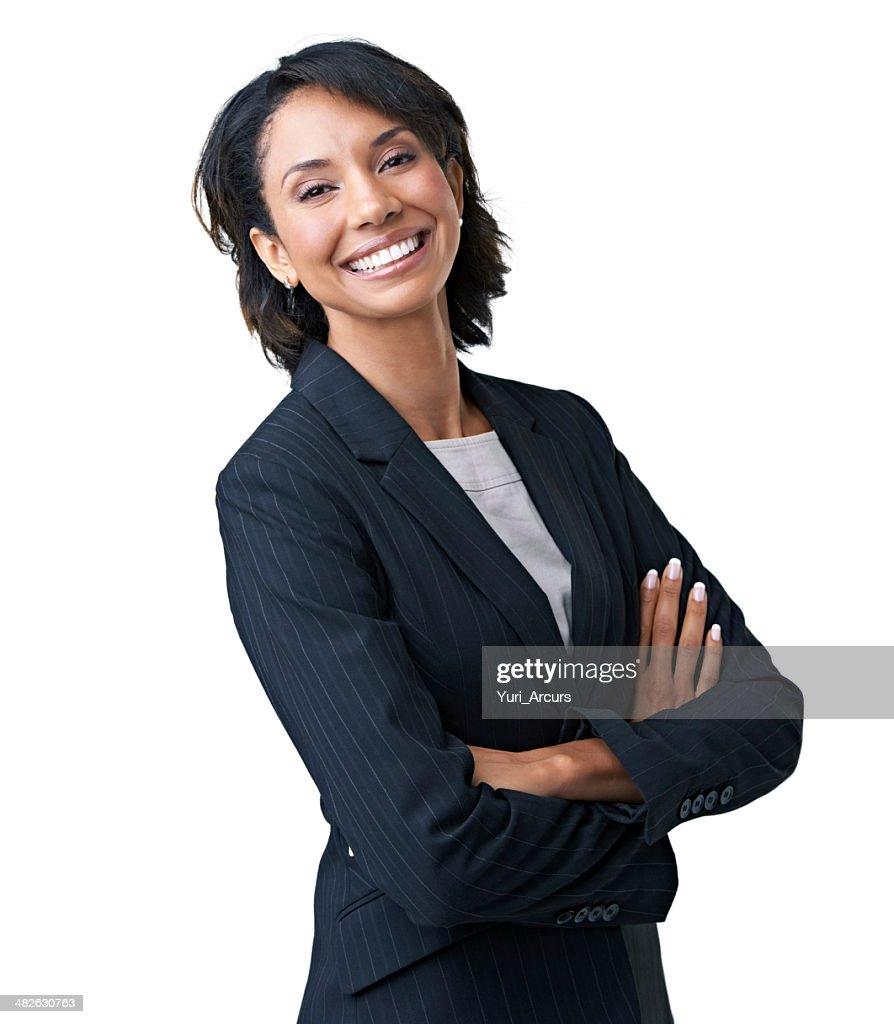 Orgulho de sua perspicácia empresarial : Foto de stock