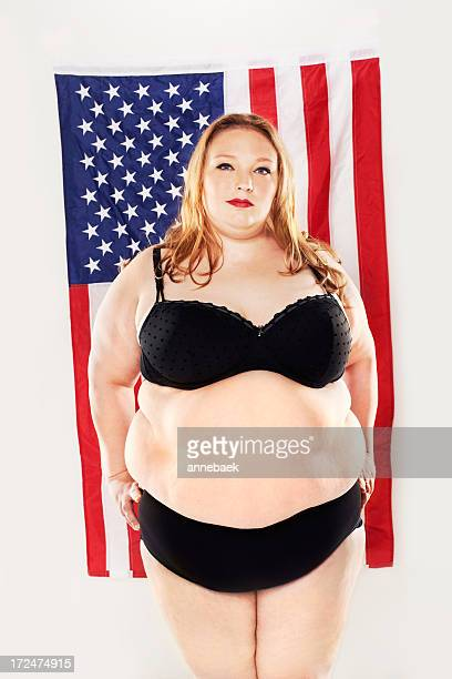 proud of her heritage and size - big fat white women stockfoto's en -beelden