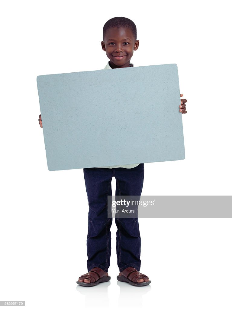 Proud of my message! : Stock Photo