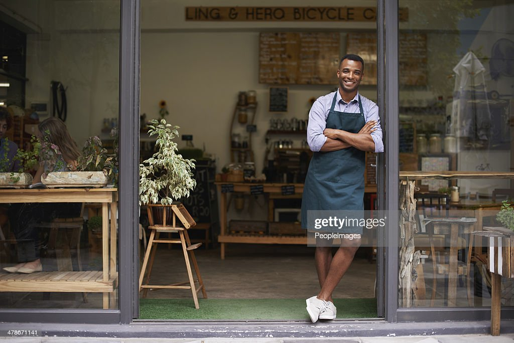 Proud of my shop : Stock Photo
