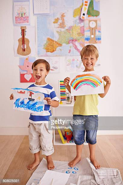 Proud of their artwork