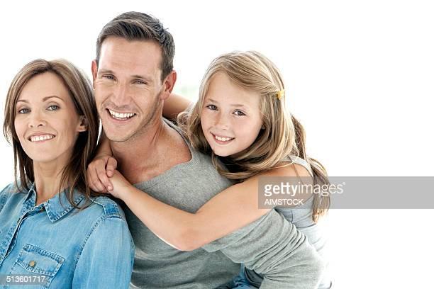stolz auf ihre tochter - familie mit einem kind stock-fotos und bilder