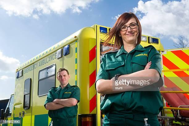Proud paramedics