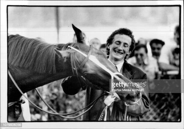 Proud Scotty Magee thanks the champion.Scotty Magee is to Super Impose what Tommy Woodcock was to Phar Lap.Super Impose rewrote the record book in...