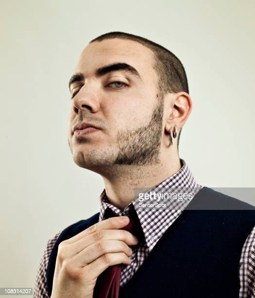 proud skinhead. - sideburn stock pictures, royalty-free photos & images