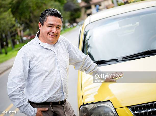 Proud taxi driver