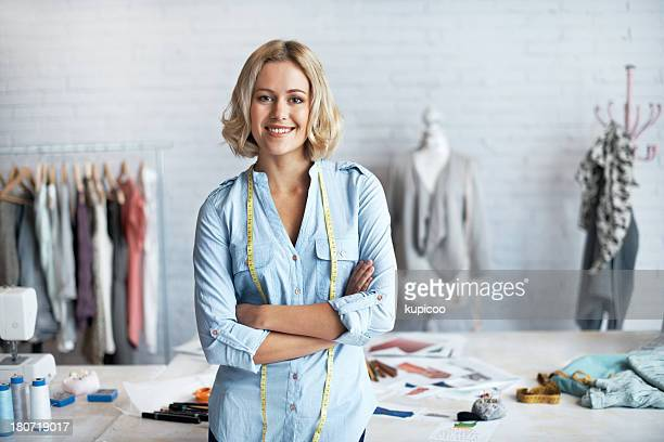 proud to be a dressmaker - tailor stock pictures, royalty-free photos & images