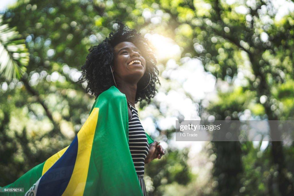 Orgulho de ser brasileira : Foto de stock