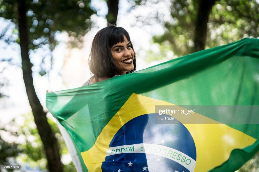 Stolz darauf, Brasilianer zu sein : Stock-Foto