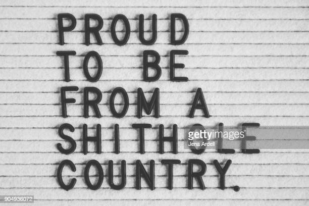 Proud To Be From A Shithole Country