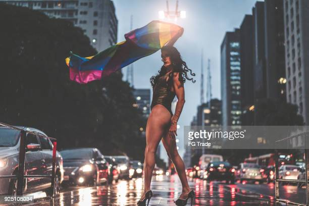 proud to be gay - drag queen stock pictures, royalty-free photos & images