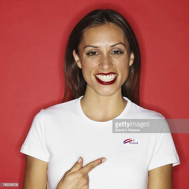 proud voter - votes for women stock photos and pictures