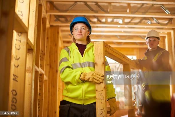 trots op jonge bouwvakkers.