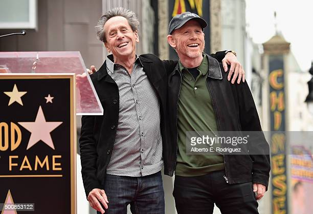 Proudcer Brian Grazer and director Ron Howard attend a ceremony honoring Ron Howard with the 2,568th Star on The Hollywood Walk of Fame on December...