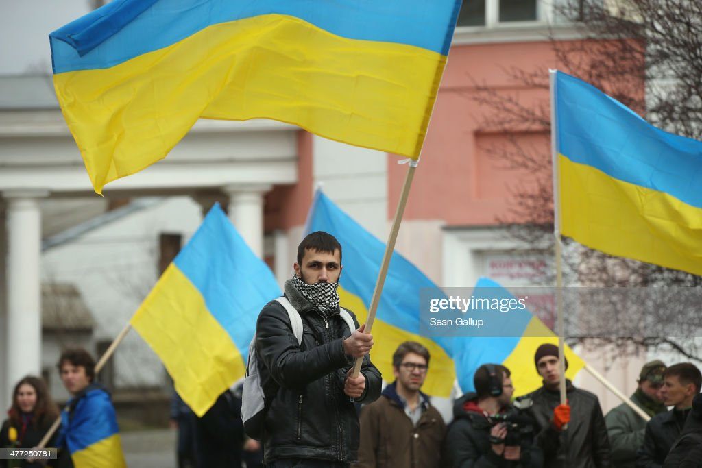 Ukraine Crisis Continues As The Crimea Prepares To Vote In The Referendum : News Photo