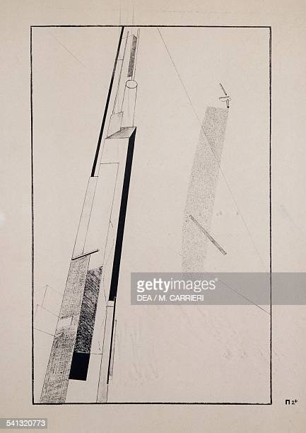 Proun 2 D by El Lissitzky pseudonym of Lazar or Eliezer Markovic Lissitzky