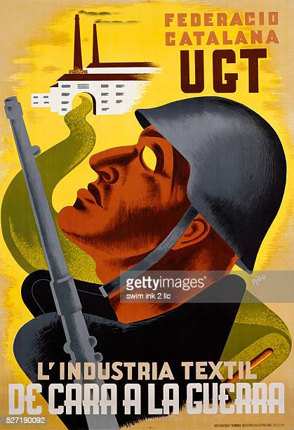 A 1937 prounion Spanish poster for the UGT a union aligned with the Socialist Party