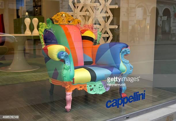 proust geometica chair by alessandro mendini - alessandro mendini stockfoto's en -beelden