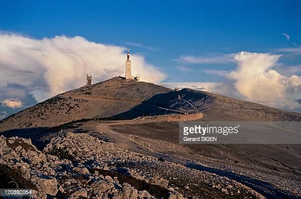 Provence Mount Ventoux in France The summit of this mount at 1909m