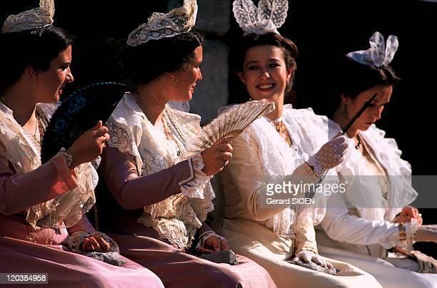 Provence The city of Arles in France Costume festival in Arles The XVth Queen of Arles