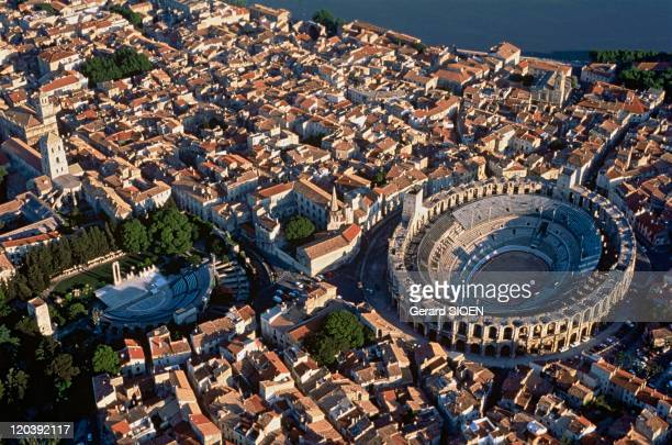 Provence The city of Arles in France The arenas and the theatre from antiquity
