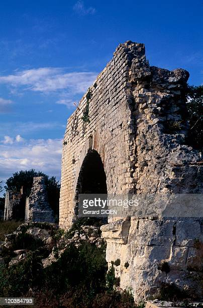 Provence the small Alps in France Barbegal Aqueducts in the Alpilles