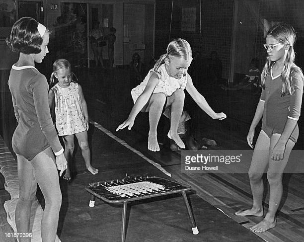 JUL 12 1968 JUL 16 1968 JUL 17 1968 Provide Bounce At Schlessman YMCA Her sister Janie is ready to jump nextAssisting are junior leaders Lisa...
