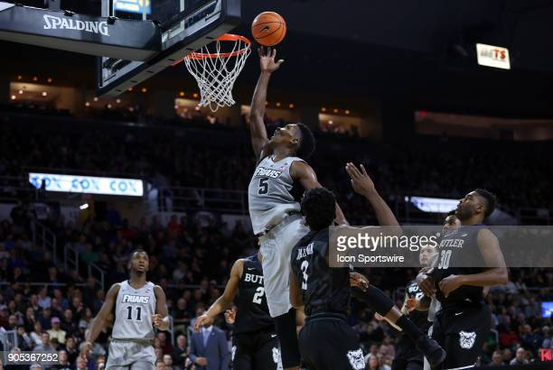 Providence Friars forward Rodney Bullock drives to the basket during a college basketball game between Butler Bulldogs and Providence Friars on...