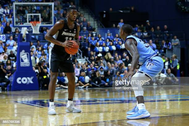Providence Friars guard Alpha Diallo and Rhode Island Rams guard Jared Terrell during a college basketball game between Providence Friars and Rhode...
