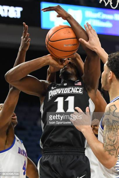 Providence Friars guard Alpha Diallo attempts to go up for a shot during a game between the DePaul Blue Demons and the Providence Friars on January...