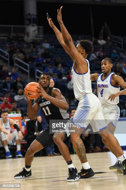 Providence Friars guard Alpha Diallo prepares to go up for a shot during a game between the DePaul Blue Demons and the Providence Friars on January...