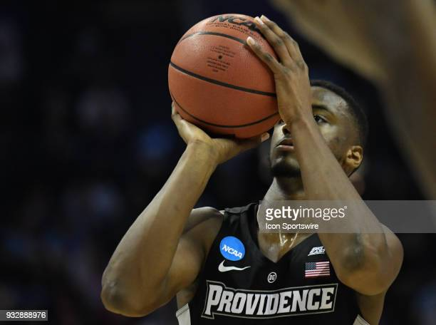 Providence Friars guard Alpha Diallo shoots a free throw during the NCAA Division I Men's Championship First Round game between the Texas AM Aggies...