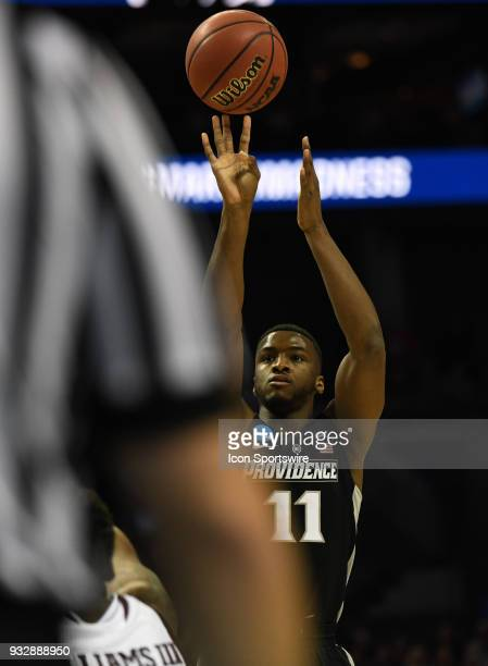 Providence Friars guard Alpha Diallo shoots an open jumper during the NCAA Division I Men's Championship First Round game between the Texas AM Aggies...