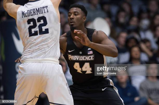 Providence Friars guard Isaiah Jackson defends Butler Bulldogs forward SeanMcDermott during the men's college basketball game between the Butler...