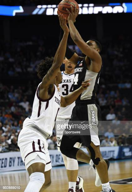 Providence Friars guard Isaiah Jackson goes up for a shot during the NCAA Division I Men's Championship First Round game between the Texas AM Aggies...