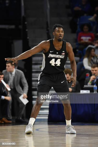 Providence Friars guard Isaiah Jackson in action during a game between the DePaul Blue Demons and the Providence Friars on January 12 at the Wintrust...