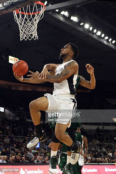 Providence Friars guard Jalen Lindsey is fouled as he drives to the basket during the first half of an NCAA basketball game between the Wagner...