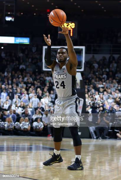 Providence Friars guard Kyron Cartwright passes the ball during a college basketball game between Butler Bulldogs and Providence Friars on January 15...
