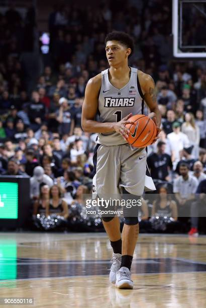 Providence Friars guard Makai AshtonLangford with the ball during a college basketball game between Butler Bulldogs and Providence Friars on January...