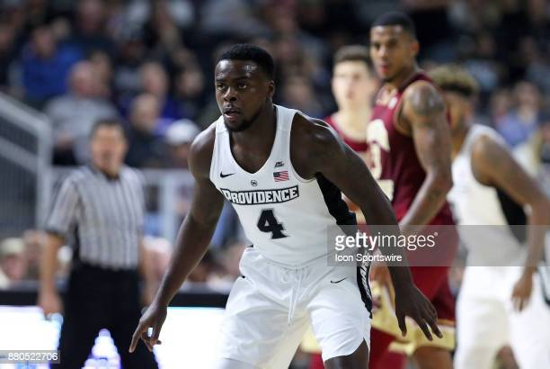 Providence Friars guard Maliek White defends during a college basketball game between Boston College Eagles and Providence Friars on November 25 at...