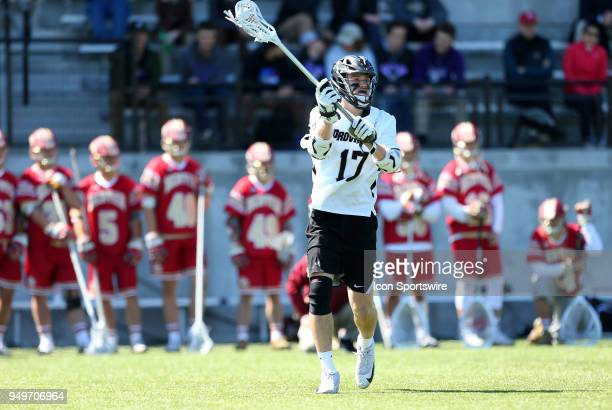 Providence Friars midfielder Tim Hinrichs during a college lacrosse match between Denver Pioneers and Providence Friars on April 21 at Anderson...